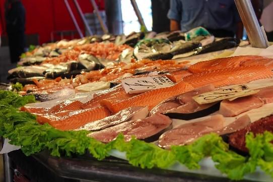 Frischer Fisch Markt