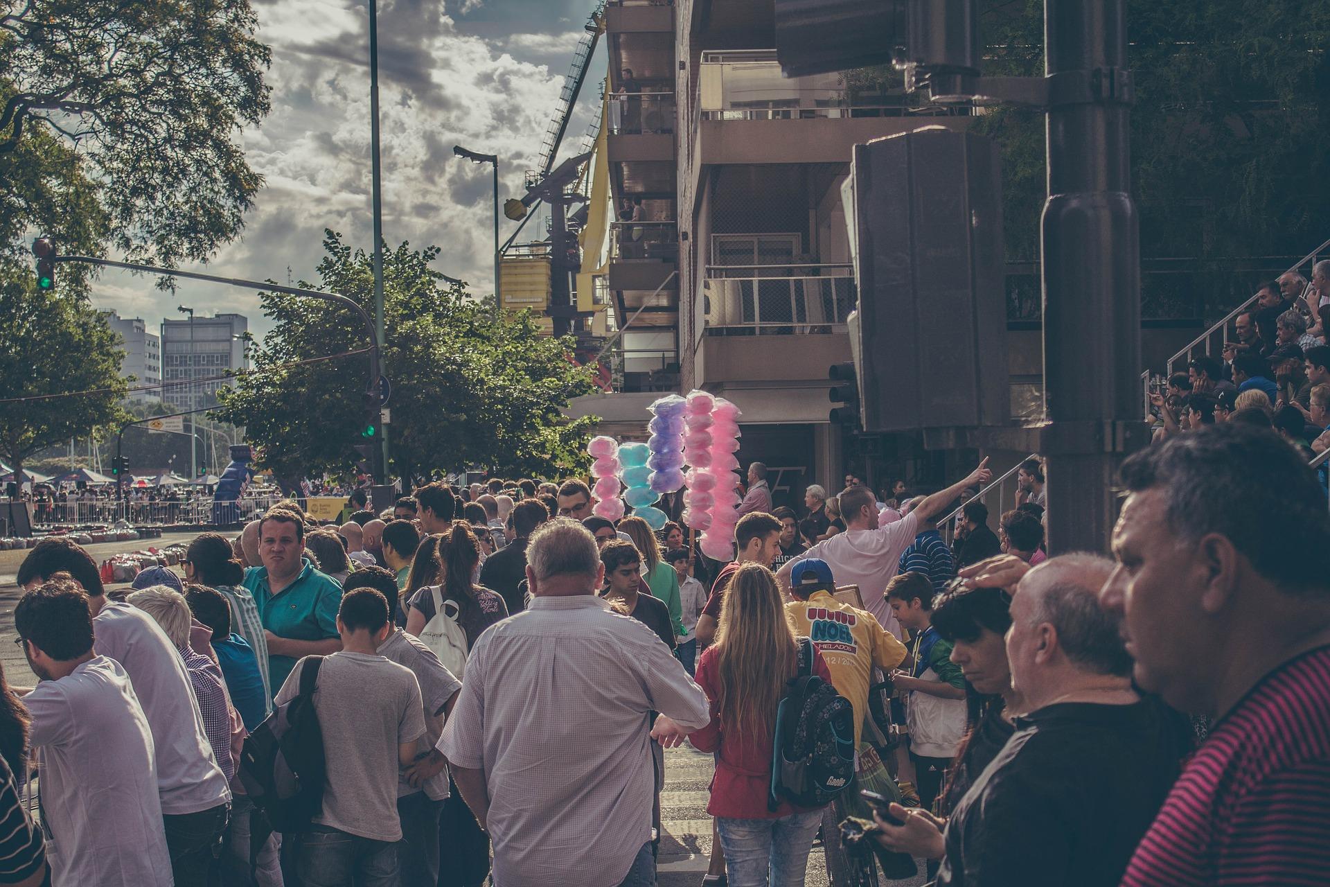 Menschen Crowd Menschenmenge