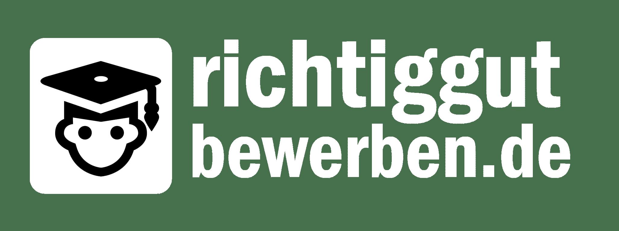 Offizielles Logo von richtiggutbewerben.de in weiß